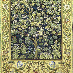 None - Tree of Life Wall Tapestry (2'10 x 2'2) - This Tree of Life tapestry was designed by William Morris, Walthamstow 1834 London 1896.This tapestry features rich colors and makes a beautiful piece for your dining room or study.