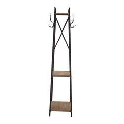 Tylish Durable Constructed Metal Wood Coat Rack - Description: