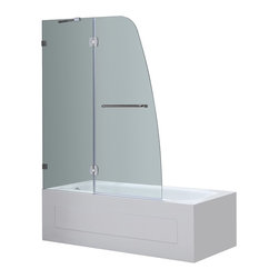 Aston - Aston 48x58, Frameless Pivot Tub/Shower Door, Chrome - Replace your dated tub door or shower curtain with the TDR982 Completely Frameless Tub-Height Pivot Shower Door Panel.