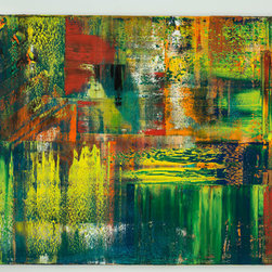 oil on canvas #5, 48in x 96in, 2014 - Spencer Rogers attended The Art Institute in Florence, Italy. His large format paintings demand attention on any wall.
