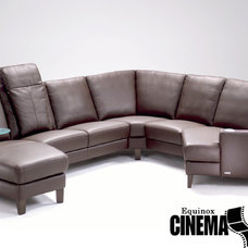 Contemporary Sectional Sofas by CinemaTech Theater Seating, Design & Acoustics