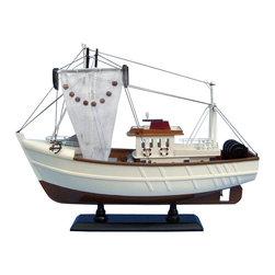 "Handcrafted Model Ships - Sushi Bar 18"" - Wooden Model Fishing Boat - Not a model ship kit"