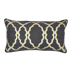 Sophisticate Charcoal Pillow - Beautifully handmade and hand woven, each pillow is made with a quality fill of 95% feather and 5% down. The Villa Home collection offers a variety of colors, textures and accents that will add a feeling of luxury to your home. The Sophisticate pillow is 50% Cotton and 50% Linen.