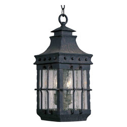 Maxim Lighting - Maxim Lighting 30088CDCF Nantucket Country Forge Outdoor Lantern - 3 Bulbs, Bulb Type: 60 Watt Incandescent