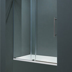Vigo - Vigo 60-inch Frameless Tub door 3/8in.  Clear Glass Chrome Hardware - Make your bathroom an oasis with a Vigo frameless tub enclosure.
