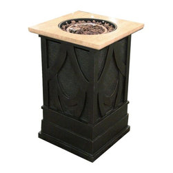 Bond Manufacturing - Bond Manufacturing Outdoor Fire Pits Avila 30000 BTU Envirostone and Marble - Shop for Outdoors at The Home Depot. Enhance any entry way or outdoor area with the Avila Propone Fire Pit Column. This elegant liquid propane burning column is ideal for patios foyers indoor and outdoor entertaining. Whether creating a romantic setting or a cozy place for friends and family to gather the warmth and glow of the open fire will add hours of comfort to your outdoor space. Color: Silver.