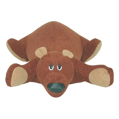 Elite Products - Rug Pals Baby Bear Bean Bag - Baby bear bean bag is JUST RIGHT for kids to use! He lies on the floor to provide a soft fun pillow for playtime. 100% polyester fabric on the outside and polystyrene beads on the inside. Outside is washable with synthetic detergent. * Long lasting and durable. Double stitched with double overlap folded seam. Double zippered bottom for added security. Childproof safety lock zipper pulls. Can easily be refill by an adult. Wash separately removing beans before washing. Do not use soap or bleach. Wash with synthetic detergent. Gentle machine wash, warm water rinse, normal spin. Drip or tumble dry on low heat. Allow to dry thoroughly before use. Use a warm iron on the reverse side. Warranty: One year limited. Made from 100% polyester and polystyrene bead. No assembly required. 43 in. L x 37 in. W x 18 in. H (2 lbs.)Your little one will love to snuggle up in front of the TV with one of our cute and cuddly Rugpals. Stuffed to the gills with fluffy plushy goodness, these animal-shaped pals are sure to win over any kid's heart.