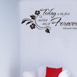 ColorfulHall Co., LTD - Vinyl Wall Quotes Today Is The First Day And Last Day - Vinyl Wall Quotes Today is the First Day And Last Day