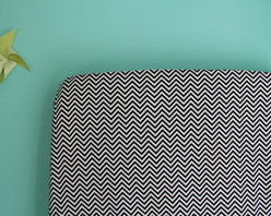 Crib Sheet, Black and White Chevron by Iviebaby - This is a cute, handmade option for dressing a crib in black and white chevron.