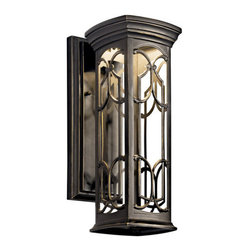 "Kichler - Kichler 49226OZLED Franceasi 15"" Energy Efficient LED Outdoor Wall Light - Kichler 49226 Franceasi LED Outdoor Wall Lantern"