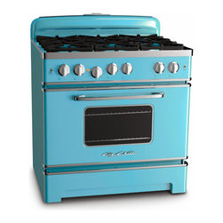 Big Chill 36-Inch Retro Stove, Beach Blue - When most people think of cottages, they think of quaint, worn homes filled with older furniture and fixtures. But that isn't necessarily always the case. Some certainly are more rural and simple, but others have all the elements you might find in a state-of-the-art home. I wouldn't necessarily use these retro-inspired Big Chill appliances in my primary residence, but I would definitely keep them in my cottage kitchen!