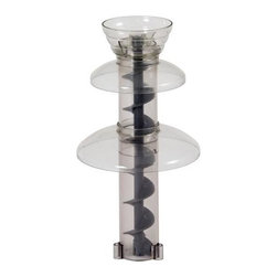 Sephra - Replacement Plastic Tierset - Includes crown, top tier, bottom tier, both cylinder pieces and the auger. Three sleeves on cylinder. Dishwasher safe. Fits on 16 in. select home fondue fountain. Made from food grade high impact plastic. Minimal assembly required