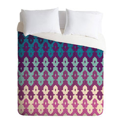 Medina Keyhole Duvet Cover - For an effortlessly classic, soothing bedroom with a twist of something modern, give this soft, lightweight duvet cover a try. Its layered keyhole design is inspired by traditional Moroccan architecture and rendered in rich, peaceful shades of blue and violet.