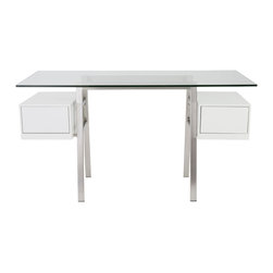 Eurostyle - Euro Style Collette Collection Desk Glass in Clear - Desk Glass in Clear in the Collette Collection by Eurostyle
