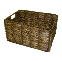 Medium Two-tone Walnut Storage Baskets (Set of 6)
