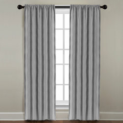 Grand Luxe - Grand Luxe Grey All Linen Gotham Rod Pocket Window Panel - Dress up your windows with these rod pocket panels from Veratex. These gray all-linen curtains feature a three-inch rod pocket to conveniently fit most curtain rods. The panels are unlined,so the color and texture will show through your window.