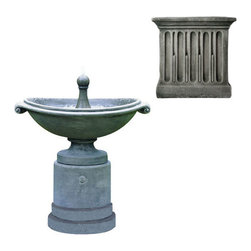 Campania International - Medici Ellipse Fountain - Alpine Stone (AS) - 394 lbs. Shipping is available throughout the continental United States. As these fountains are made to order,_please allow 4 to 6 weeks for delivery. Drop ship is curbside delivery only.