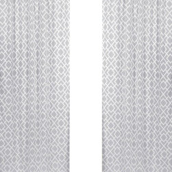 Sweet Jojo Designs - Diamond Gray & White Window Panel - Set of 2 by Sweet Jojo Designs - The Diamond Gray & White Window Panel - Set of 2 by Sweet Jojo Designs, along with the  bedding accessories.