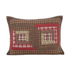 """VHC Brands - Tacoma Standard Pillow Sham - This matching sham for the Tacoma Quilt by VHC Brands is 100% washable cotton in red, tan and brown measuring 21"""" x 27"""" to fit a standard pillow."""