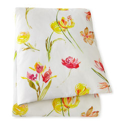 Pine Cone Hill King Floral Sheet Set - This dainty watercolor bedding ensemble is just too sweet for words!