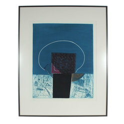"Gary Lee Shaffer ""Return V"" Original Framed Collograph - An abstract art piece that's totally accessible? Yes, Gary Lee Shaffer's 1981 collograph and chine-collé is for any art lover. Bring the edge and verve of the early-1980s New York City to your home with this extraordinary paper work."