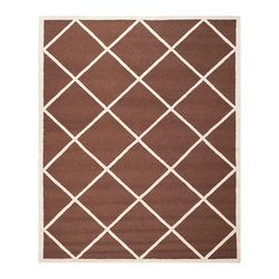 Safavieh - Babette Hand Tufted Rug, Dark Brown / Ivory 8' X 10' - Construction Method: Hand Tufted. Country of Origin: India. Care Instructions: Vacuum Regularly To Prevent Dust And Crumbs From Settling Into The Roots Of The Fibers. Avoid Direct And Continuous Exposure To Sunlight. Use Rug Protectors Under The Legs Of Heavy Furniture To Avoid Flattening Piles. Do Not Pull Loose Ends; Clip Them With Scissors To Remove. Turn Carpet Occasionally To Equalize Wear. Remove Spills Immediately. Bring classic style to your bedroom, living room, or home office with a richly-dimensional Safavieh Cambridge Rug. Artfully hand-tufted, these plush wool area rugs are crafted with plush and loop textures to highlight timeless motifs updated for today's homes in fashion colors.