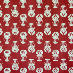 Lobster fabric red white - A lobster fabric. A red and white lobster fabric! Nothing says summer as much as this red and white lobster fabric!