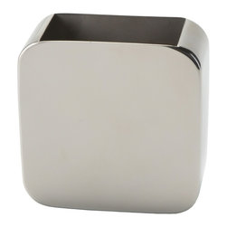 Gedy - Chrome Free Standing Toothbrush Holder - Modern style toothbrush holder made out of stainless steel. Comes in a chrome finish. Designed by Gedy in Italy. Square modern toothbrush holder. Stainless steel with chrome finish. From the Gedy Polaris collection.