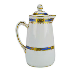 Lavish Shoestring - Consigned Milk Jug in Blue and Gold by Tuscan China, Vintage English 1930s - This is a vintage one-of-a-kind item.