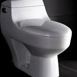 "Atlas International Inc - Toilet - Ariel Platinum Contemporary One Piece ""Athena"" (White) - Modern Eco-Friendly One Piece White toilet. Ariel cutting-edge designed one-piece toilets with powerful flushing system. It's a beautiful, modern toilet for your contemporary bathroom remodel."