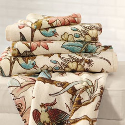 Audrey Organic Bath Towels - Nowadays it's out of the norm to see patterned bath towels. Why not mix it up?
