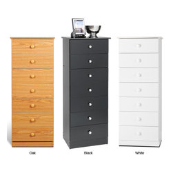 None - Seven-drawer Chest - Get big storage without the big floor space with a 7 Drawer Tall Chest. This budget-friendly chest's seven drawers are built with your small garments and objects in mind, and each are easily removed for organization, cleaning or even moving.