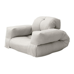 Fresh Futon - Hippo Convertible Futon Chair/Bed, Natural Mattress - Unlike its animal counterpart the Hippo is sure to be a space-saving marvel in any room folding from a cozy chair to a plush mattress than can be stored under most beds.. Available in 9 twill fabric color options.