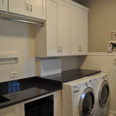 Traditional Laundry Room by Blank & Baker Construction Management
