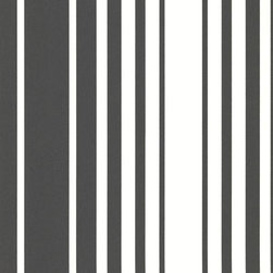Brewster Home Fashions - Lewitt Black Barcode Stripe Wallpaper Bolt - Highly stylish, this black and white stripe wallcovering adds modern sophistication to walls with a fabulous design coated in a unique suede effect.