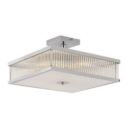 Trans Globe Lighting - Trans Globe Lighting 10161 PC Semi Flushmount In Polished Chrome - Part Number: 10161 PC