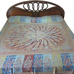 Cozy Pashmina Bedspreads - Paisley Design Pashmina Bedspread King Bedding Throw
