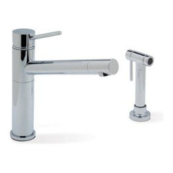 Blanco - Blanco Alta With Side Spray Kitchen Faucet, Polished Chrome (440666) - Blanco 440666 Alta with Side Spray Kitchen Faucet, Polished Chrome