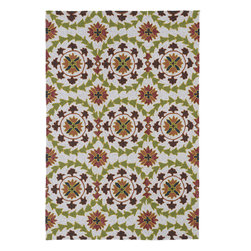 "Home and Porch 2036-49 Brown Rug - Home & Porch is a beautiful and elegant collection produced to be a wonderful addition to any room in your home yet durable enough to be used outdoors. This collection is reflective of a more active lifestyle and invites the expansion of an indoor living space to the outdoors. Home & Porch is UV treated against excessive fading and is water protected. Handmade in China with 100% polypropylene and finished with our ""K-Stop"" Non-Skid backing."