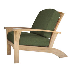 Douglas Nance - Douglas Nance Augusta Deep Seating Club Chair, Fern - Douglas Nance Augusta is a leap away from the ordinary. This collection combines the Americana feel of an Adirondack chair with the grand comfort and style of fine teak deep seating furniture - and it reclines! Includes made-to-order Sunbrella cushion available in nine colors (Navy, Chili, Dolce, Fern, Marina, Natural, Parrot, Spa, Westin).