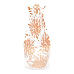 Modgy - Myvaz Expandable Flower Vase Lila Peach - Myvaz expandable flower vases do everything a glass vase does except collect dust, chip or break. Available in a variety of designs, myvaz expandable vases are durable and stable enough to hold a flower bouquet. These decorative vases expand with water and are ideal for events, weddings, and any table top. myvaz plastic vases are collapsible and economical, making it easy to keep a variety of colors and patterns tucked away for any occasion.