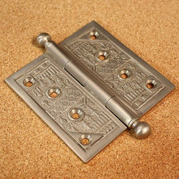 None - Windsor Collection Pewter 4-inch Door Hinges (Pack of 3) - These door hinges feature a pewter finish. The intricate pattern of the Windsor Collection will complement any home decor.