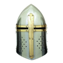 Benzara - Metal Crusader Helmet - Feel brave. Add something new to your Medieval decor collection by 36200 METAL CRUSADER HELMET. It attracts the visitors due to its realistic shape.