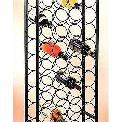 "Old Dutch - 47 Bottle Wine Rack - This classic arched wine rack stores 47 bottles of your finest vintage at just the right angle. Its sleek finish is designed to suit any decor. Features: -Steel construction.-Product Type: Wine Bottle Rack.-Collection: Wyndham Road.-Hardware Finish: Black.-Distressed: No.-Powder Coated Finish: Yes.-Material: Steel.-Hardware Material: Steel.-Scratch Resistant: No.-Tarnish Resistant: No.-Mount Type: Floor.-Wine Bottle Capacity: 47.-Lockable: No.-Shelves Included: No.-Lighted: No.-Removable Serving Tray Included: No.-Ice Bucket Included: No.-Wine Glass Storage Included: No.-Glasses Included: No.-Adjustable Levelers: Yes.-Stackable: No.-Foldable: No.-Removable Bottle Racks: No.-Commercial Grade Welding: No.-Bottle Size Compatibility: 750 mL.-Outdoor Use: No.-Commercial Use: No.-Recycled Content: No.-Product Care: Wipe with damp cloth and hand dry clean.-Gloss Finish: No.-Refrigerated Cabinet: No.-Mirrored Back: No.Specifications: -UL Listed: No.-cUL Listed: No.-ISTA 3A Certified: No.-ISO 9000 Certified: No.-ISO 14000 Certified: No.Dimensions: -Overall Height - Top to Bottom: 54"".-Overall Width - Side to Side: 17"".-Overall Depth - Front to Back: 8"".-Overall Product Weight: 11 lbs.Assembly: -Assembly Required: Yes.-Tools Needed: Phillips head screwdriver.-Additional Parts Required: No."