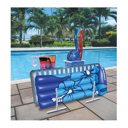 Raft Caddy with Hangers - -Handy candy stores everything from goggles to pool floats