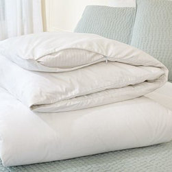 Ultra Duvet Protector, Twin - Lengthen the life of your bedding with our duvet and pillow protectors. Woven of soft, 230-thread-count cambric cotton, they remove easily for washing and keep underlying inserts fresh and clean. Woven of pure cotton. 230-thread count. Machine wash. Imported.