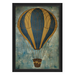 "The Artwork Factory - ""Hot Air Balloon 6"" Print - No need for high flying plans to redecorate. If you're simply looking for a sophisticated and striking design element to alter the look of your room, this museum-quality print can quickly rise to the occasion."