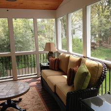 contemporary porch by PT Designs Inc. Paula Tranfaglia - Decorating Den