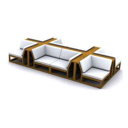 Westminster Teak Furniture - Maya Teak Outdoor Couch Set - Maya Teak Outdoor Sectional Conversation Set, Modular Design, Upscale Sophistication.  Rated Best Overall by Wall Street Journal.