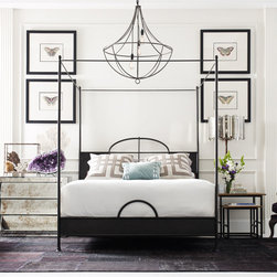 Shea - Queen Poster Bed - Fresh take on a classic four poster bed